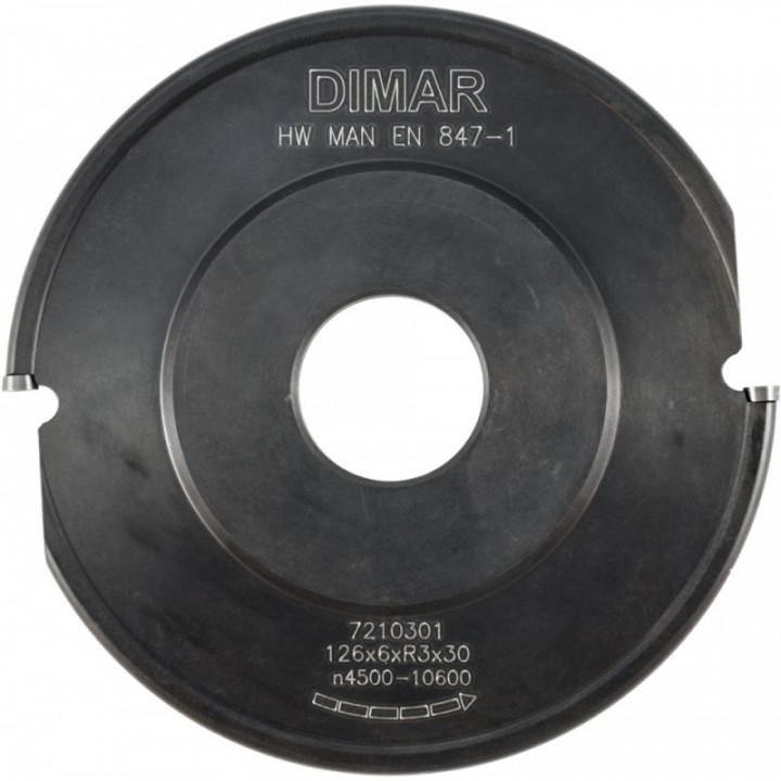 Фреза насадная галтель 4x29мм D128x8 Z2 сменные ножи посадка 30 DIMAR
