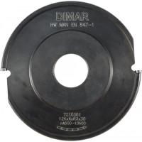 Фреза насадная галтель 10x35мм D140 aluminiumx20 Z2 сменные ножи посадка 30 DIMAR